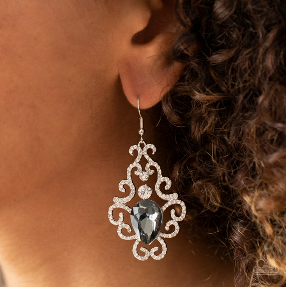Paparazzi Accessories Glow Silver Earring